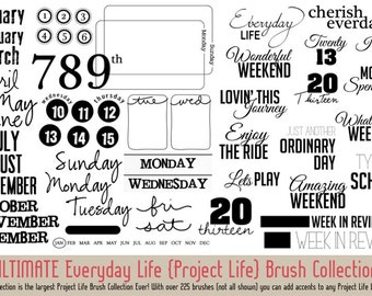Project Life Brush Collection for Photoshop & PSE (Digital Download)