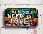 "Graffiti ""All You Need Is Love"" iPhone 4/4S 5/5S/5C/6/6+ and now iPhone 7 cases!! And Samsung Galaxy S3/S4/S5/S6/S7"