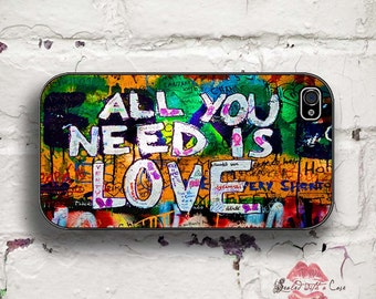 """Graffiti """"All You Need Is Love"""" iPhone 4/4S 5/5S/5C/6/6+ and now iPhone 7 cases!! And Samsung Galaxy S3/S4/S5/S6/S7"""