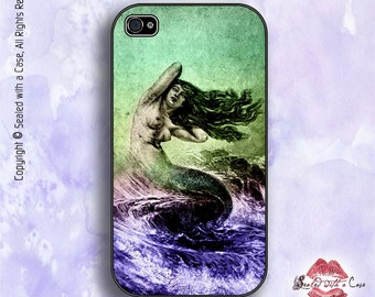 Mermaid Vintage Illustration - iPhone 4/4S 5/5S/5C/6/6+ and now iPhone 7 cases!! And Samsung Galaxy S3/S4/S5/S6/S7