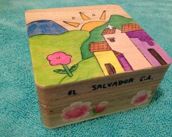 Salvadoran Style Wooden Box