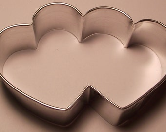 "3 1/2"" Double Heart Cookie Cutter"