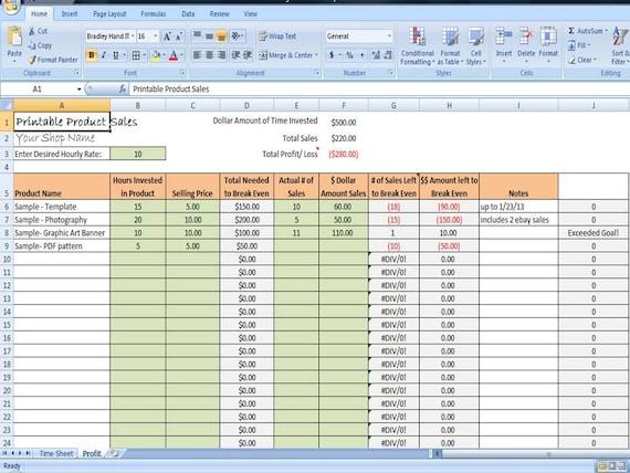 printable digital product sales tracker profit tracking by. Black Bedroom Furniture Sets. Home Design Ideas