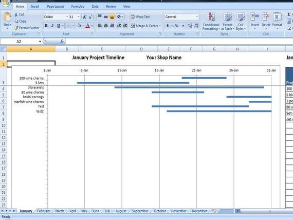 excel task calendar