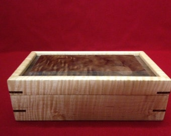 FIDDLEBACK/WALNUT BURL Box