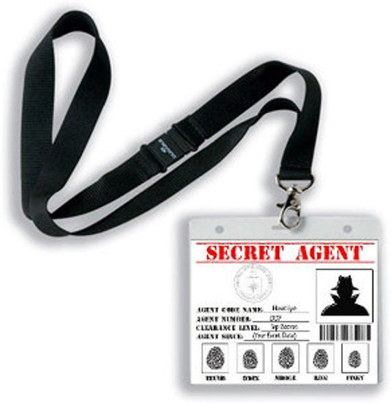 Refreshing image pertaining to secret agent badge printable