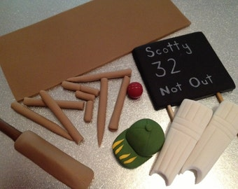 Cricket Cake Topper Set edible fondant icing