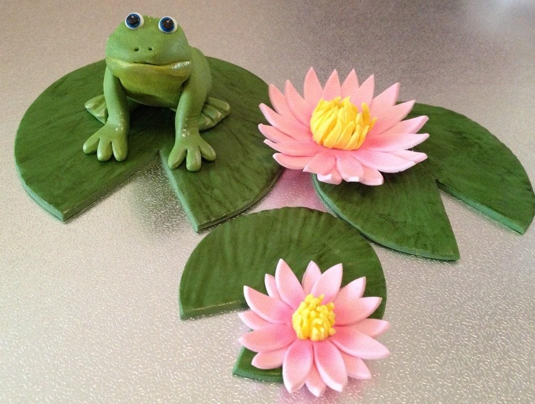 Frog Cake Topper Set edible fondant icing