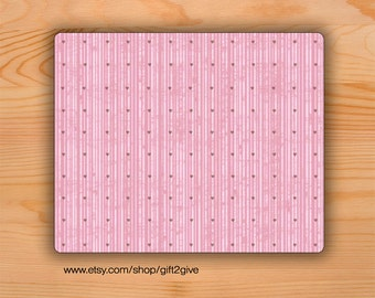 Mousepad Pink Hearts Valentine