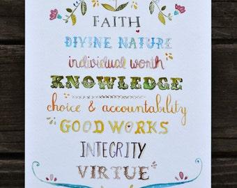YW Values Print