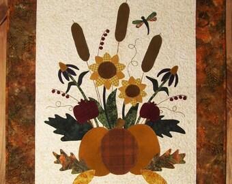 Autumn Garden - Wool on Batik Applique Pattern
