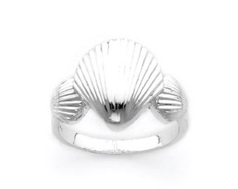 Sterling silver three shell ring