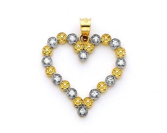 14K Gold Heart Charm set with .12 carat diamonds.