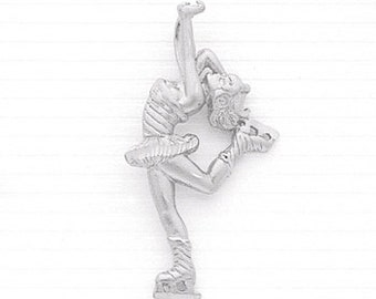 Sterling Silver Spinning Ice-skater Charm.