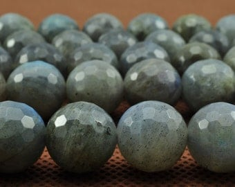 32 pcs of Labradorite faceted round beads in 12mm