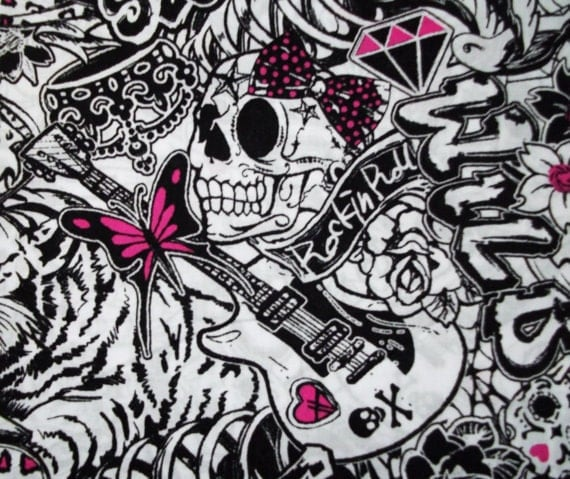 GIRLY PUNK SKULLS | Skull wallpaper |Punk Girl Tattoo Girly