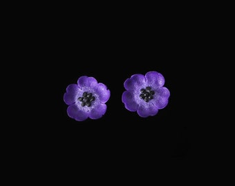 Cranesbill Mini Stud Earrings