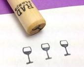 Wine Glass Rubber Stamp