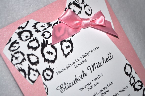 cheetah baby shower invitations pink and black cheetah print leopard