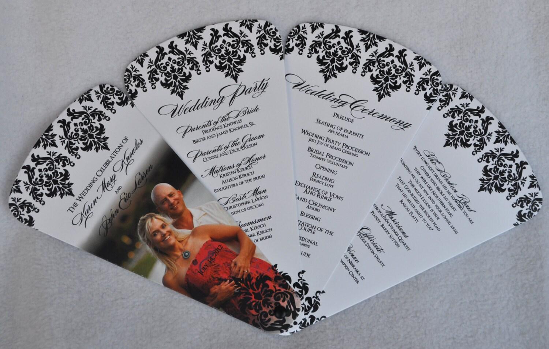 Fan Wedding Programs Custom Photo Fan Wedding By PunkyPosh