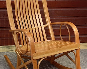 Rustic Old World Hickory - Cherry Rocker