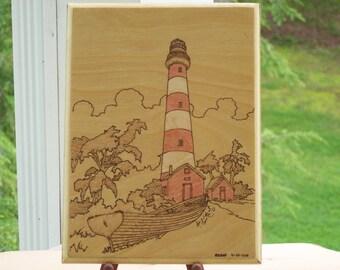 Assateague Island Lighthouse  Woodburning Pyrography