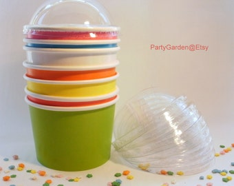 Lids Only - Dome Ice Cream Cup Lids - For 8 oz Ice Cream Cups