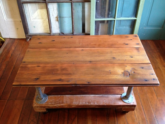 Items Similar To Coffee Table Reclaimed Wood Metal