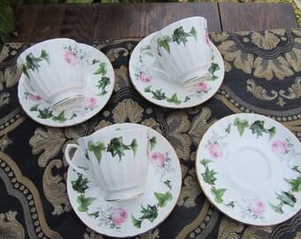 Mayfair China Teacups and Saucers