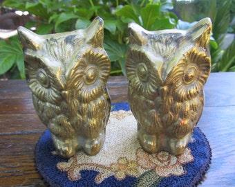 Brass Owl Duo - Brass Owl Figurine