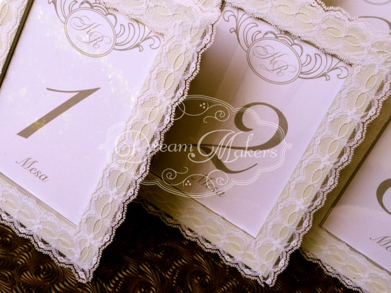 Custom Made Vintage Table Numbers