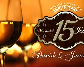 Happy Anniversary Wine Banner
