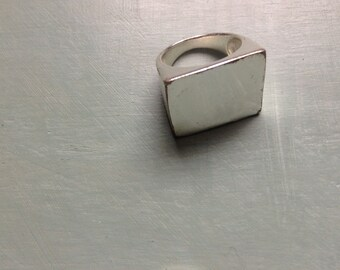 Vintage square sterling ring size 8.5