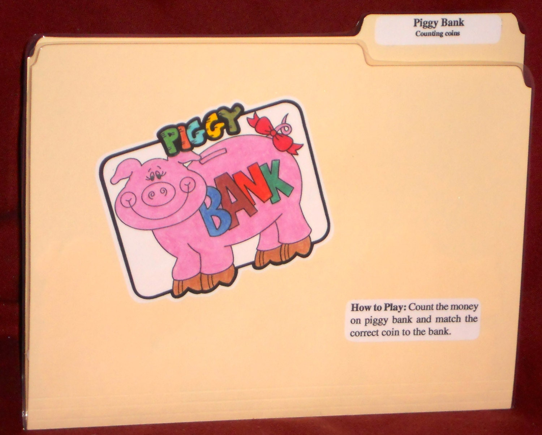 File Folder Game Money PIGGY BANK' By NoBatteryReqrdGames