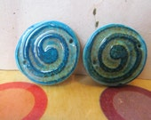 Faux ceramic polymer clay  beads handmade beads