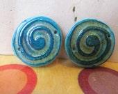 Faux ceramic polymer clay  beads handmade beads