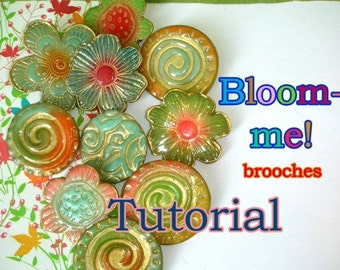 """Polymer clay tutorial""""Bloom-me""""my  techniqe to create brooches,magnet, pendant and more"""