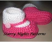 Crochet baby booties mary jane Socks Slipper shoes - INSTANT DOWNLOAD - PDF Pattern