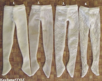 Kawkana - White PANTYHOSE, lace thights for YoSD, LTF, 1/6 dolfie