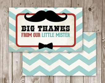 Little Man Mustache Thank You Card