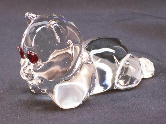 Bear figurines teddy asian glass
