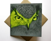 Fine Art Greeting Card - Wilder Eyes (Owl)