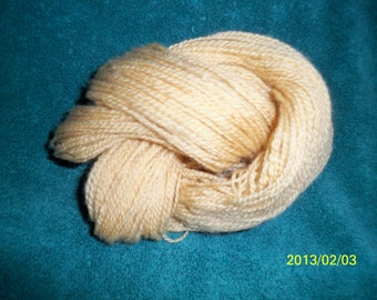 Handspun Yarn - 2.0 ounces, 2 Ply, 164 yards, worsted weight - Maize