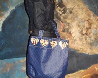 Medium Blue Rainproof Shopping Handbag