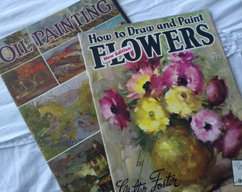 Vintage How to Draw and Paint Flowers and Oil Painting by Walter Foster