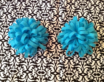 MADE TO ORDER - Set of 2 Felt Flower Hair Clips, Brooches, Accessories