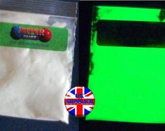20g. Glow in the dark green pigment powder.