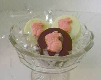 Spring Easter 3D Bunny White Chocolate Covered Oreos