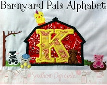 Barnyard Pals Applique Alphabet (INSTANT DOWNLOAD)
