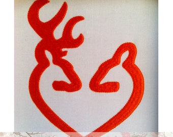 Buck and Doe Heart Embroidery Design (INSTANT DOWNLOAD)